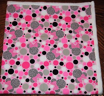 Homemade Minnie Mouse Baby Quilt, Blanket