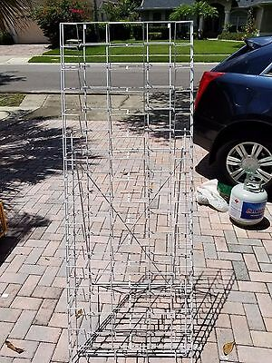 Tiered Wire Literature Floor Stand for Magazines or Photos