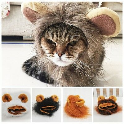 Cute Fluffy Mane Wig Hairpiece Hat Accessory For Cat Puppy Dog Pet Cosplay Dress