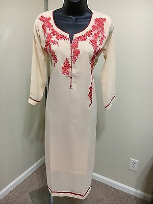 Indian Traditional Bollywood Kurti Women CHIFFON Designer Dress Top US size 44
