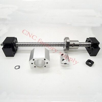 SFU 1605 L400mm -C7 with nuts+BK12 / BF12 End+Coupler+support Ballscrews set