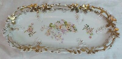 Royal Saxe Romantic Porcelain Hand Painted Oblong Bowl Germany