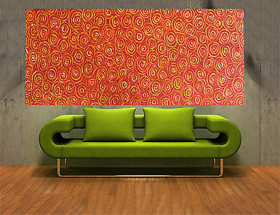 Large 180cm  Aboriginal Art Painting bush fire abstract Oil Canvas By Jane COA
