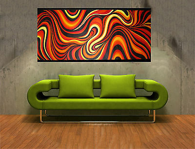 180cm Aboriginal Art Painting Abstract Fire dreaming By Jane Change Colors