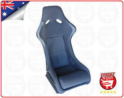 Fixed Bucket Seat Fibreglass Shell with Rails Mancave Office Chair Gaming BK