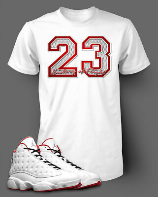 23 Graphic T shirt To match Air Jordan 13 History of Flight shoe Men's Tee Shirt