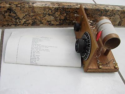 Delux Long distance Receiving  Crystal Radio # CRS-014 Home Brew Built w/ instr