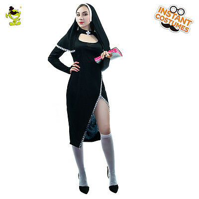 Brand New Adult's Ladies Sexy Naughty Nun Religion Hen Party Fancy Dress Costume
