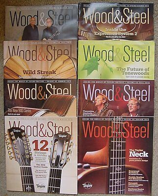 8 Issues Wood & Steel Taylor Guitar Magazines Complete Years 2014 & 2015 ,2016/2