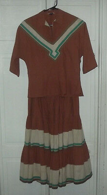 Neat Vintage Southwestern Style Delores Resort Wear Tuscon Arizona Skirt & Top