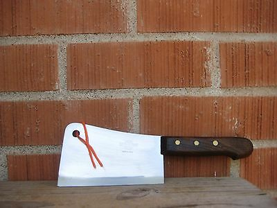 "Vintage 5 1/2"" Blade *** FAMA - MANIAGO *** Inox Cleaver Knife ITALY"