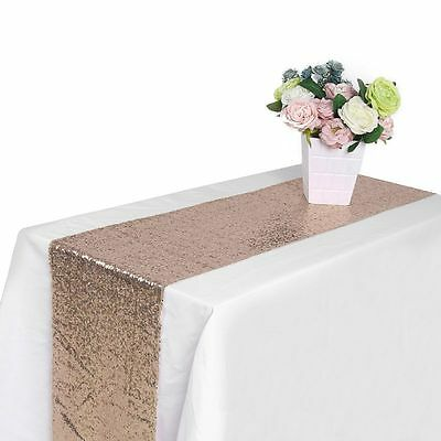 "12"" x 108"" Satin Table Runner Wedding Party Room Decor Banquet Table Runners AU"
