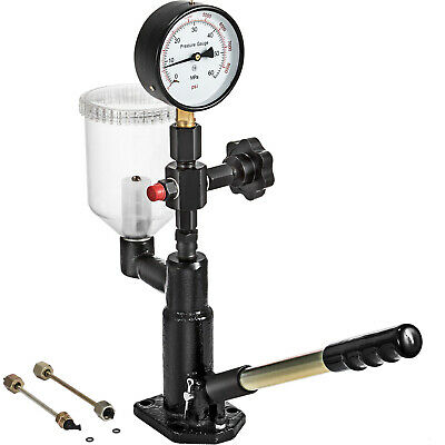 Diesel Injector Nozzle Tester - Pop Pressure Tester, Dual Scale 600-8000 PSI BAR