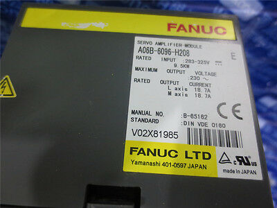 Fanuc Servo Amplifier A06B-6096-H208 in Good Condition Used