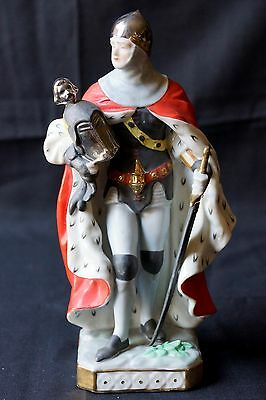 Antique Porcelain Voight Brothers Sitzendorf German Knight figurine with cape
