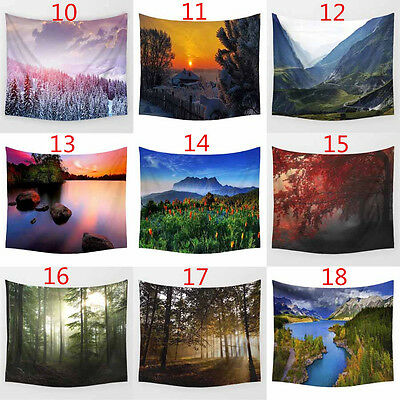 Landscape Polyester Wall Sticker Beach Towel Hanging Tapestry Home Decor