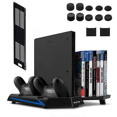 Stand for PS4 Slim/PS4 Cooling Fan Controller Charging Station Game Storage NEW