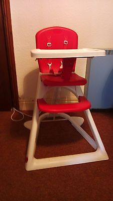 Lindam 3-in-1 High Chair Red