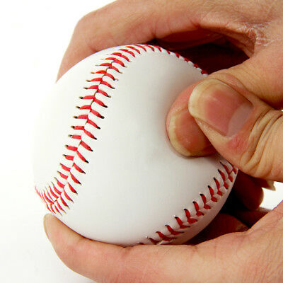 "Standard Sized 9"" BaseBall Sport Outdoor Practice Trainning Soft Base Ball White"