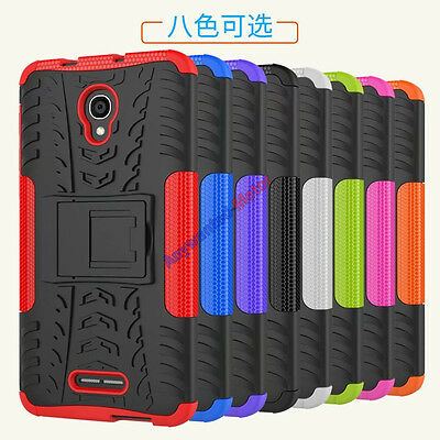 For Alcatel Pop 4 Plus Case Rugged Armor Hybrid Kickstand Protective Phone Cover