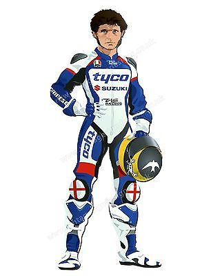 """Guy Martin Digitally Cut Out Vinyl Sticker. 3.5"""" X 8"""" Overall Size"""