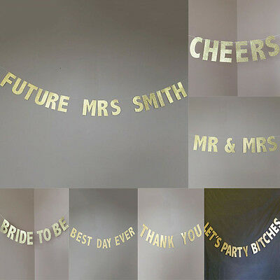 Pastel Happy Birthday Mr Mrs Bunting Garland Gold Letters Party Hanging Banner