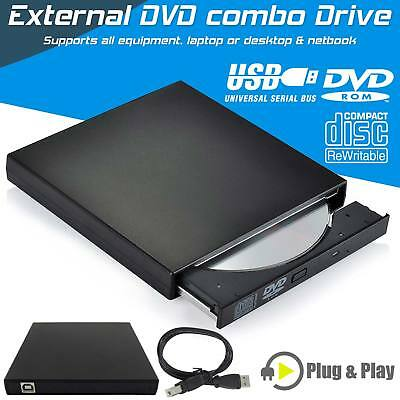 Ultra Slim Portable USB 2.0 Ultra External DVD ROM CD-RW Player Writer Drive