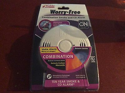 NEW! Kidde Worry Free Smoke and Carbon Monoxide Combination Alarm -Voice Warning