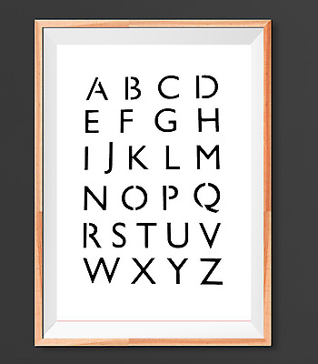 A4 Alphabet ABC letters Mylar Reusable Stencil Airbrush Painting Art Craft