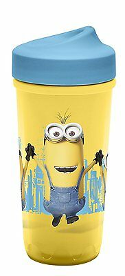 Zak Designs Toddlerific Perfect Flo Toddler Cup with the Minions, Double Wall