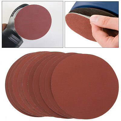 10PCS Waterproof 6'' 2000 Grit Hook And Loop Polishing Sanding Discs Sandpaper