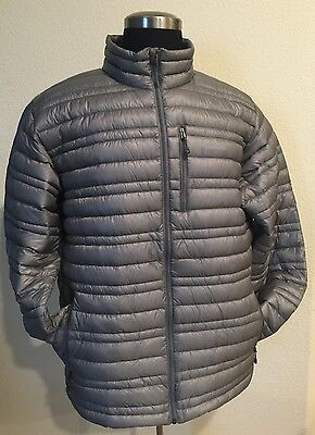 NWT Patagonia men's ultralight down jacket Size L Feather Grey Slim Fit
