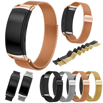 Edelstahl Milanese Sport Silikon Band Armband für Samsung Gear Fit 2 & Fit 2 Pro