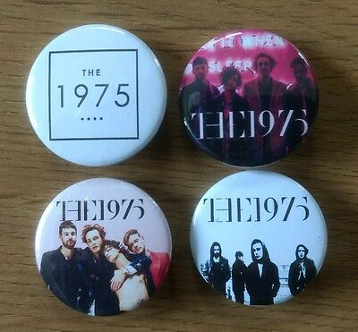 The 1975 25mm button badges set of 4