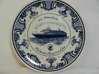 HOLLAND AMERICA Line ms Maasdam Plate Blue Delft  collector's plate