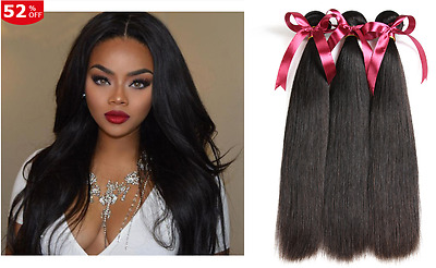 100% Naturel Certifie Virgin Hair Remy Extension Tissage Bresilien 100G 8A Grade
