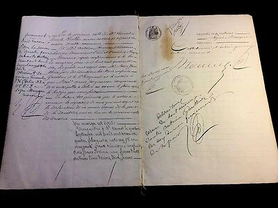 VERY OLD DOCUMENT 1864                       16 pages
