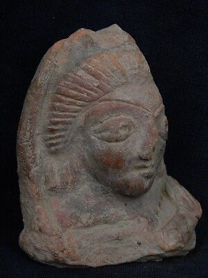 Ancient Teracotta Head Bactrian C.300 BC  #TR779