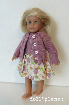"American Girl Mini DRESSED DOLL : KIT  LE collectible 6"" doll blond hair sweater"