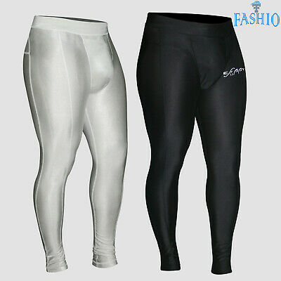 Mens Thermal Compression Pants Running Gym Workout Stretchable Tights Trousers