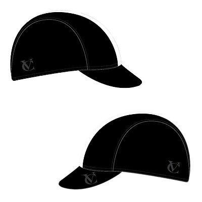 VeloChampion Cycling Tech Cap - Black with White Band