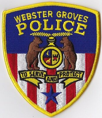 Webster Groves Police Patch Missouri MO NEW !!!