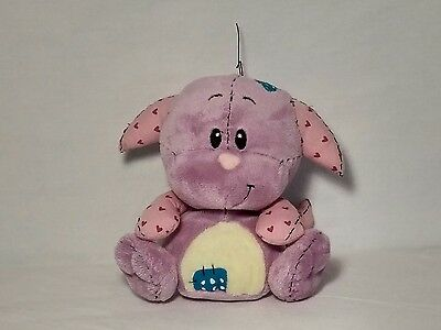 "2005 Plushie Kacheek Neopets Stuffed Animal 7"" toy lavender patchwork"