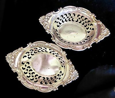 Set Of 2 Sterling Birks Nut Or Mint Dishes, Servers Or Bowls, Cromwell