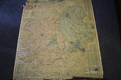Very Old Bacons New Survey Map Of Staffordshire And Shropshire