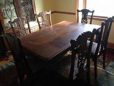 Chippendale Dining Set - Table, 6 chairs, china cabinet, buffet