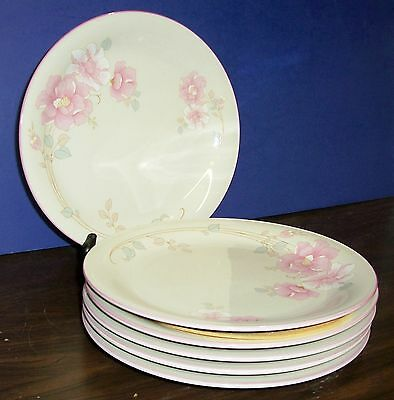 "Lot Of 6 China Pearl Claudia Dinner Plates 10.5""   Never Used Free U S Shipping"