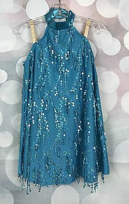 Weissman Dance Jazz Party Sequin Real Blue Costume LC