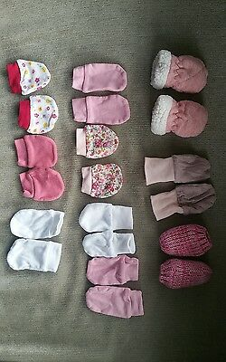 0-3 months baby mitts