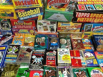 GREAT LOT OF OLD UNOPENED BASEBALL CARDS IN PACKS Look for Hall-of-Famers Suc...
